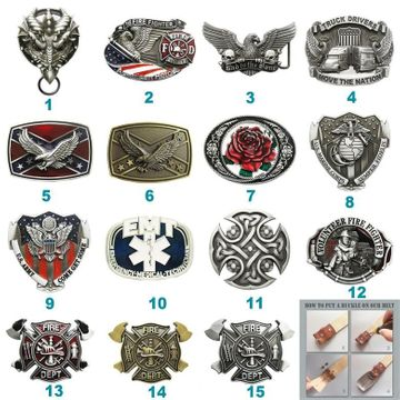 Western Biker Rider Firefighter Belt Buckle Mix Styles Choices Stock in US