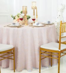 "108"" Round Lace Table Overlays - Blush Pink 90815(1pc/pk)"