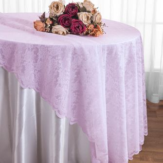 "108"" Round Lace Table Overlays - Lavender 90811(1pc/pk)"