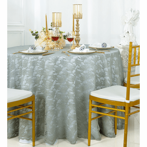 Silver Round Lace Table Overlays, Round Lace Table Toppers