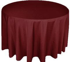 "108"" Round Polyester Tablecloth - Burgundy 52810(1pc/pk)"