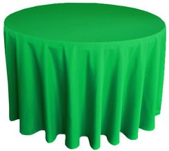 "108"" Round Polyester Tablecloth - Emerald Green 52838 (1pc/pk)"