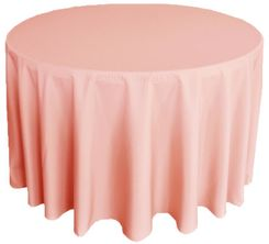 "108"" Round Polyester Tablecloth - Rose Pink 52807(1pc/pk)"