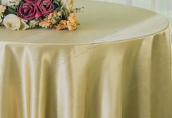 "108"" Round Satin Tablecloths - Cappuccino 55646(1pc/pk)"
