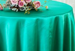 "108"" Round Satin Tablecloths - Jade 55626(1pc/pk)"