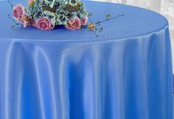 "108"" Round Satin Tablecloths - Periwinkle / Cornflower 55625(1pc/pk)"
