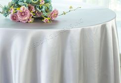 "108"" Round Satin Tablecloths - Platinum 55650(1pc/pk)"