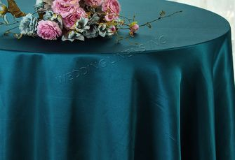"108"" Round Satin Tablecloths - Serene 55688 (1pc/pk)"