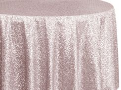 "108"" Round Sequin Taffeta Tablecloths - Blush Pink 01215 (1pc/pk)"