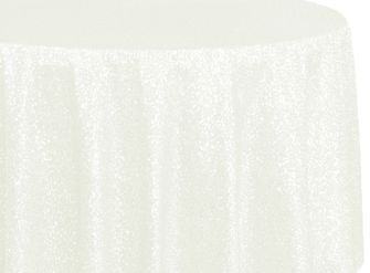 "108"" Round Sequin Taffeta Tablecloths - Ivory 01202 (1pc/pk)"