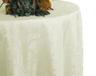 """108"""" Round Versailles Chopin Damask Jacquard Polyester Tablecloths (14 colors)"""