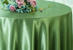 "108"" Round Satin Table Overlays - Clover 55648 (1pc/pk)"