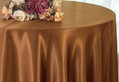 "108"" Round Satin Table Overlays - Copper 55641 (1pc/pk)"