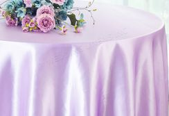 "108"" Round Satin Table Overlay - Lavender 55611 (1pc/pk)"