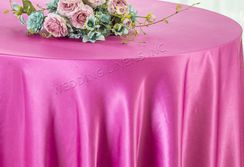 "108"" Round Satin Table Overlays - Magenta / Azalea 55636 (1pc/pk)"