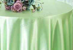"108"" Round Satin Table Overlays - Mint Green 55634 (1pc/pk)"