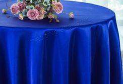 "108"" Round Satin Table Overlays - Royal Blue 55622 (1pc/pk)"