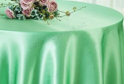 "108"" Round Satin Table Overlays - Sage Green 55630 (1pc/pk)"