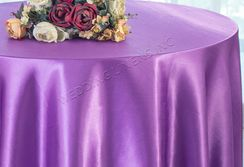 "108"" Round Satin Table Overlays - Victoria Lilac 55653 (1pc/pk)"