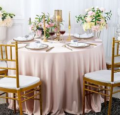 "108"" Seamless Round Scuba (Wrinkle-Free) Tablecloth - Blush Pink 20515 (1pc/pk)"