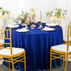 "108"" Seamless Round Scuba (Wrinkle-Free) Tablecloth - Royal Blue 20522 (1pc/pk)"