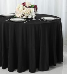 "108"" Seamless Round Scuba (Wrinkle-Free) Tablecloths (7  Color)"