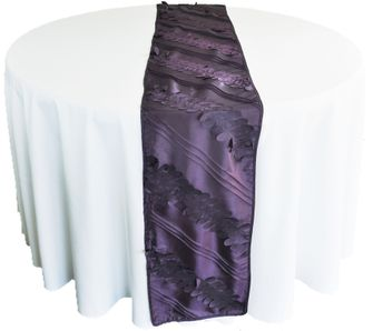 "12""x 108"" Forest Taffeta Table Runner - Eggplant 67245(1pc/pk)"