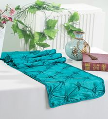 "12""x108"" Pinchwheel Taffeta Table Runner - Oasis 66258(1pc)"