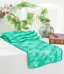 "12""x108"" Pinchwheel Taffeta Table Runner - Tiff Blue / Aqua Blue 66218(1pc)"