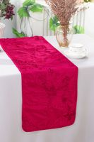 "12""x108"" Ribbon Taffeta Table Runner - Fuchsia 65209(1pc)"