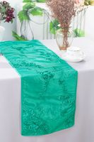 "12""x108"" Ribbon Taffeta Table Runner - Tiff Blue / Aqua Blue 65218(1pc)"