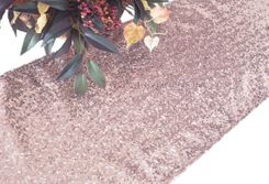 "12""x108"" Sequin Taffeta Table Runner - Blush Pink 01015 (1pc)"