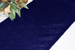 "12""x108"" Sequin Taffeta Table Runner - Navy Blue 01023 (1pc)"