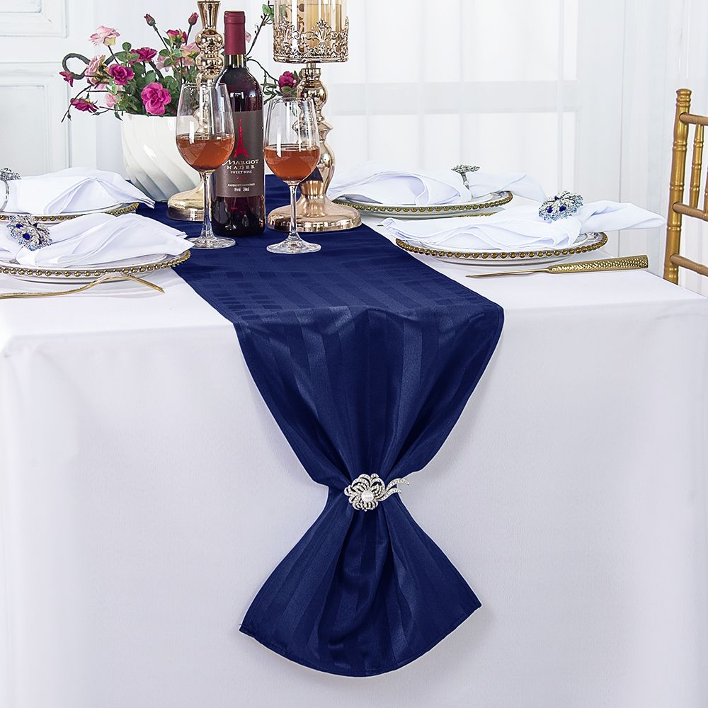 Ivory Striped Wedding Table Runners Wholesale