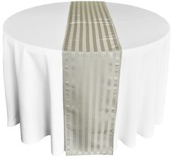 "12""x108"" Striped Jacquard Polyester Table Runners - Silver 86140(1pc)"
