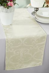 """12""""x108"""" Versailles Chopin Jacquard Damask Polyester Table Runners - Ivory 92102(1pc)"""