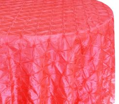 "120"" Pinchwheel Taffeta Tablecloth - Coral 66906(1pc/pk)"