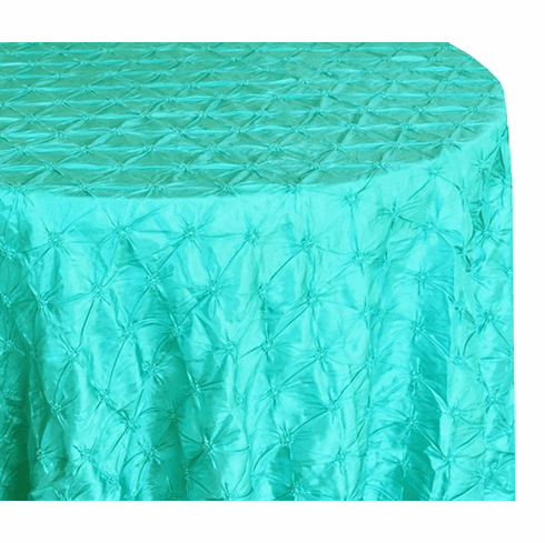 "120"" Pinchwheel Taffeta Tablecloth - Pool Blue 66978(1pc/pk)"