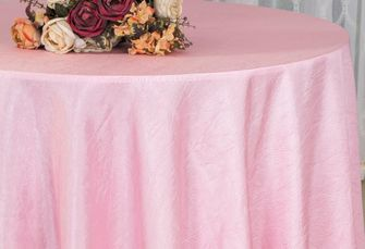 "120"" Round Crushed Taffeta Tablecloth - Pink 61905(1pc/pk)"