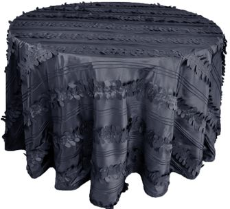 "120"" Round Forest Taffeta Tablecloths - Pewter 67960(1pc/pk)"