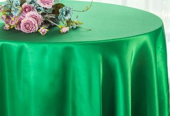 "120"" Round Heavy Duty Satin Tablecloths (38 colors)"