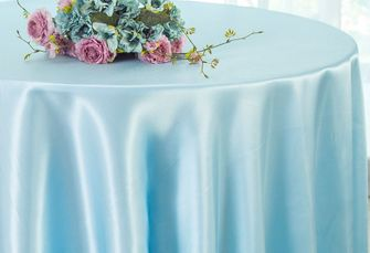 "120"" Round Heavy Duty Satin Tablecloths (40 colors)"