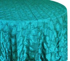 "120"" Round Pinchwheel Taffeta Tablecloth (10 Colors)"