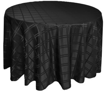 """120"""" Round Plaid Jacquard Polyester Tablecloths (6 colors)"""