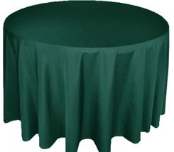 """120"""" Round Polyester Tablecloth - Hunter Green / Holly Green 51619(1pc/pk)"""