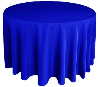 "120"" Round Polyester Tablecloth - Royal Blue 51622(1pc/pk)"