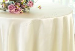 "120"" Round Satin Tablecloth - Ivory 55802(1pc/pk)"