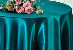 "120"" Round Satin Tablecloth - Peacock 55859(1pc/pk)"