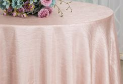 "120"" Round Seamless Crushed Taffeta Tablecloth (31 colors)"