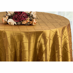 "120"" Round Seamless Pintuck Taffeta Tablecloths (28 colors)"